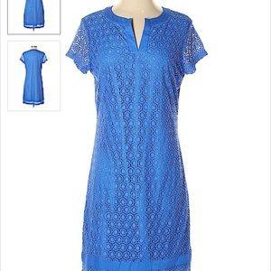 Isaac Mizrahi Live! lace split neck tunic dress